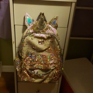 Justice Accessories - Justice gold sequin backpack